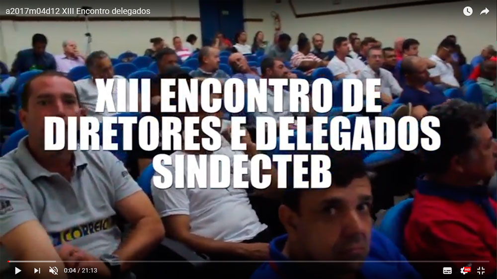 XIII Encontro de Diretores e Delegados SINDECTEB