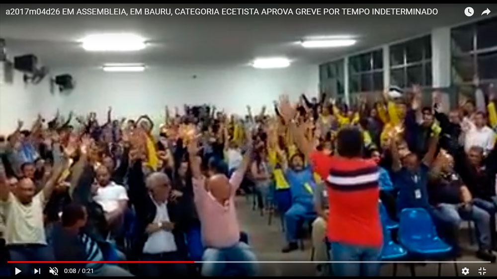 Assembleia de Trabalhadores aprova greve por tempo indeterminado