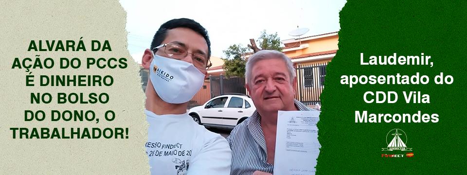 Ação do PCCs: SINDECTEB entrega alvará ao trabalhador do CDD Vila Marcondes