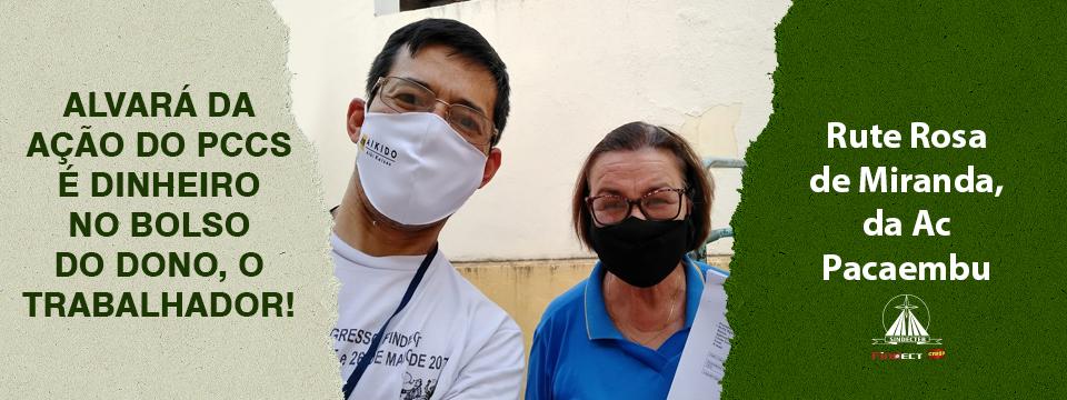 Ação do PCCs: SINDECTEB entrega alvará à trabalhadora da AC Pacaembu